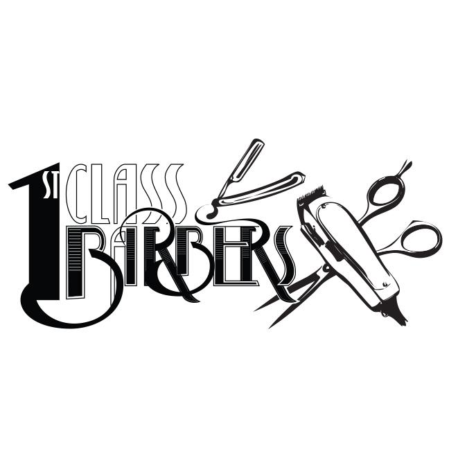 Barber Shop Graphic Design 1st Class Barbers Denver