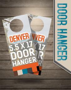 door hanger, door promo,