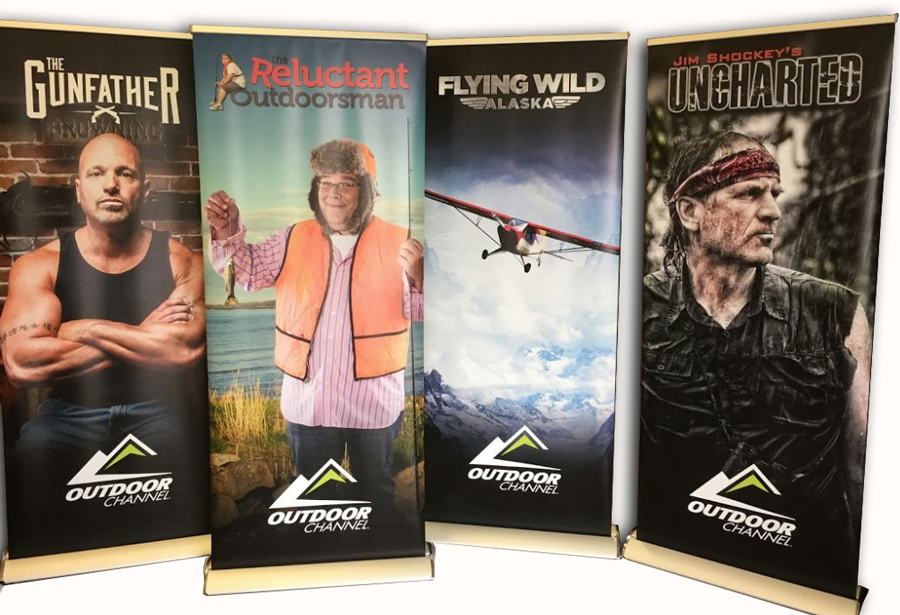 outdoor channel pull-up banners