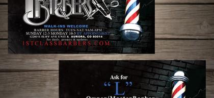barber business card design