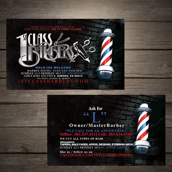 barber business card design