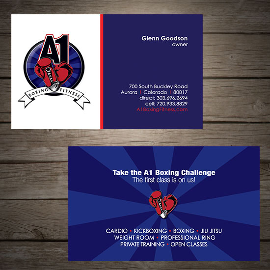 A1 boxing fitness graphic design denver print company a1 boxing colourmoves Images
