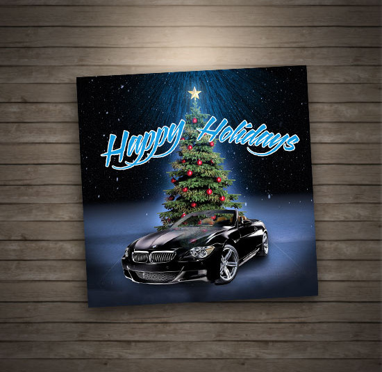 BMW Holiday Card Greeting Card Designed And Printed In Denver