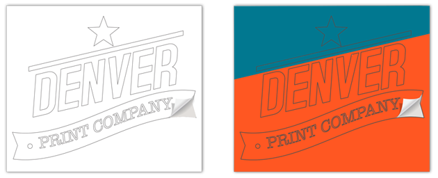 sticker printing denver - cut vinyl examples - white and colored