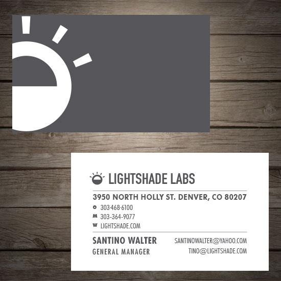 Business cards lightshade labs denver print company business cards lightshade labs colourmoves