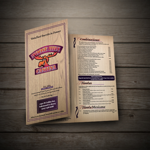 Brochure design for moose hill cantina