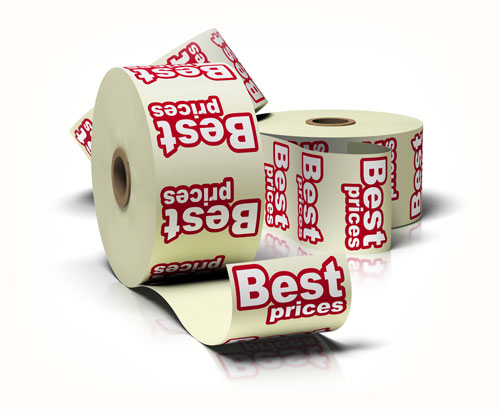 roll of stickers