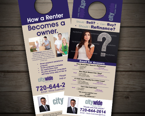 Door Hanger for City wide home loans