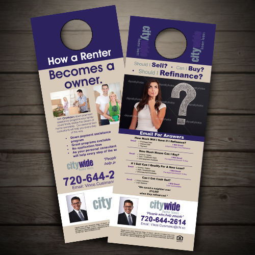 Door Hanger for City wide home loans