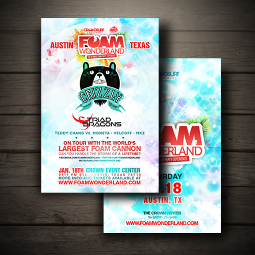 foam wonderland flyer