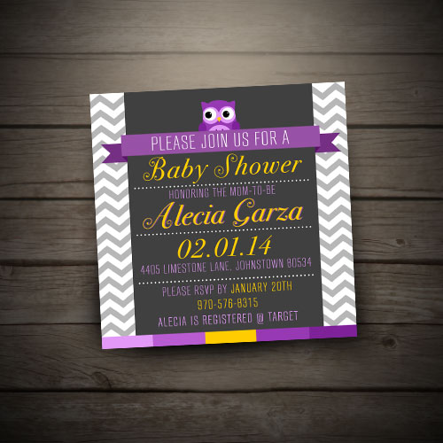 custom baby shower design help