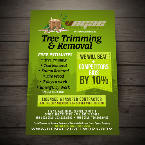 vegas tree trimming - Tree Service Business Cards