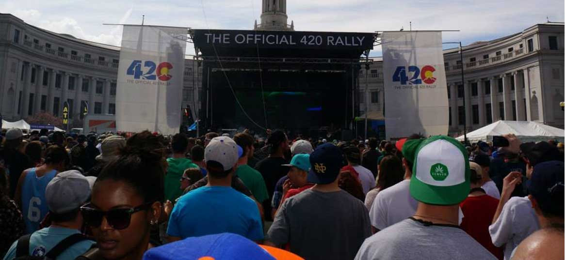 rally 420 banners stage