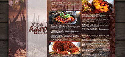 custom menu for 100% de agave