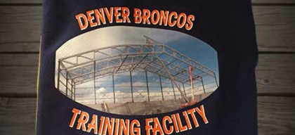 Shirts for the denver training facility
