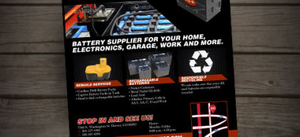 Industrial Battery Services Flyer