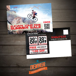 Bike shop mailer design