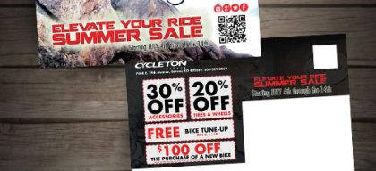 Bike shop mailer design