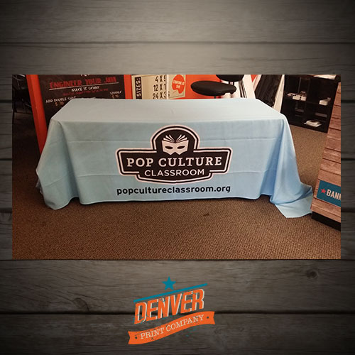 Custom table cloth printed