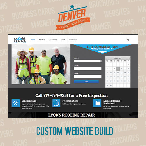 custom design websites