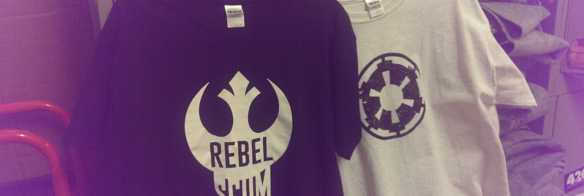Custom star wars apparel and stickers from denver print company