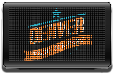 led sign with denver print company logo