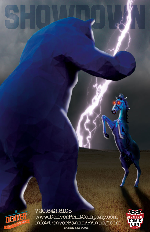 bear v horse dcc poster