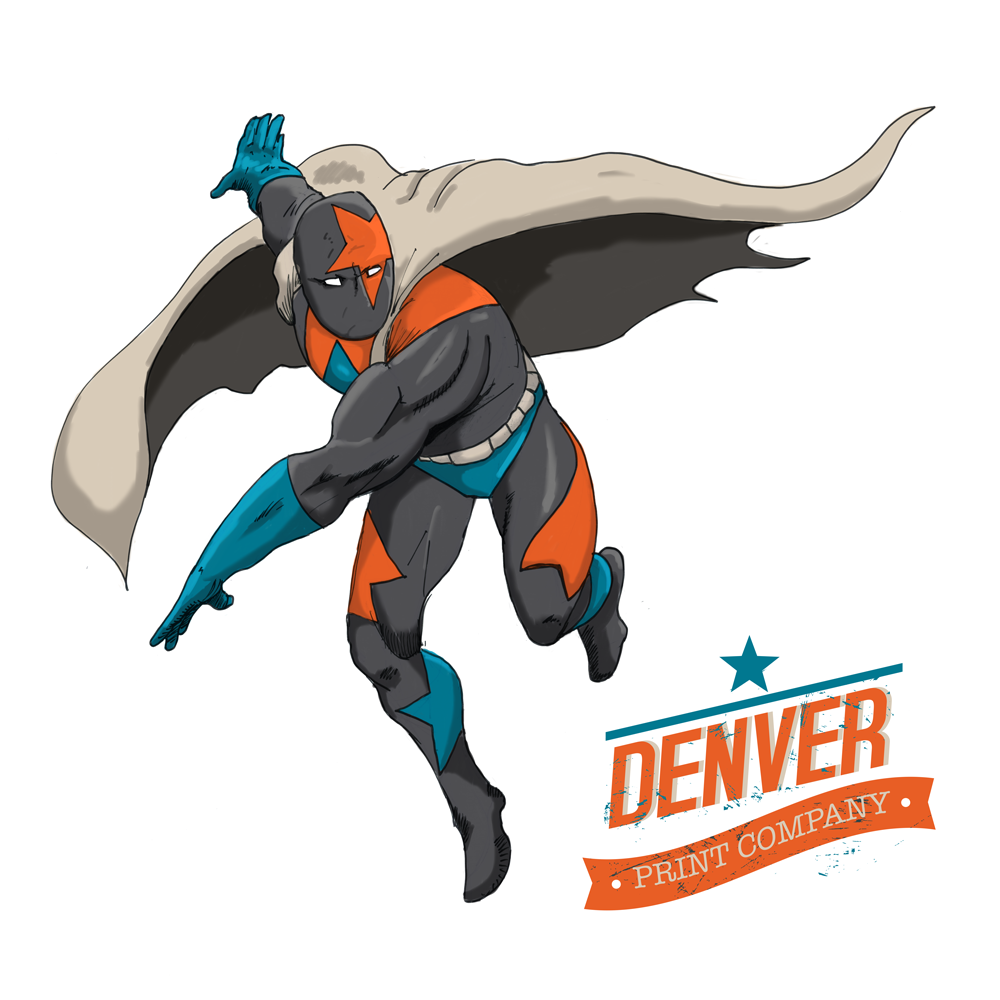 denver print superhero