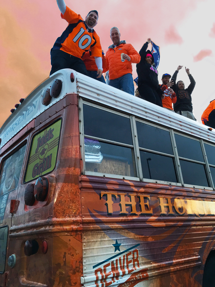 Broncos Bus vehicle graphics