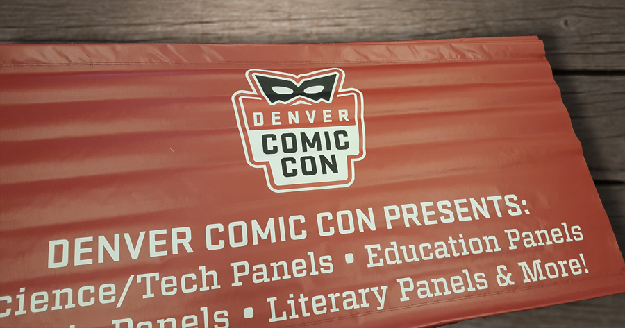 denver comic con presents banner