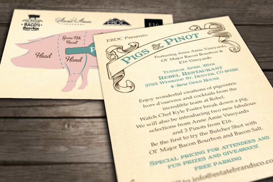 pigs and pinot invitation