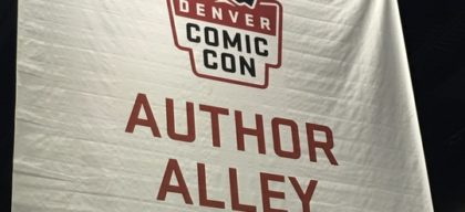 author alley comic con banner