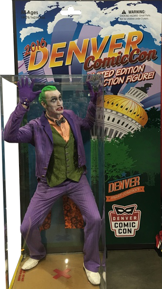 Joker in action-figure photo booth