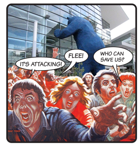 convention center bear comic