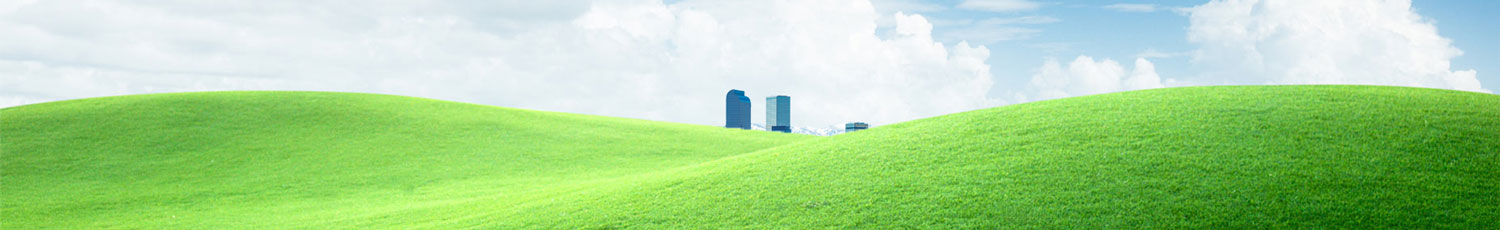 grass with city