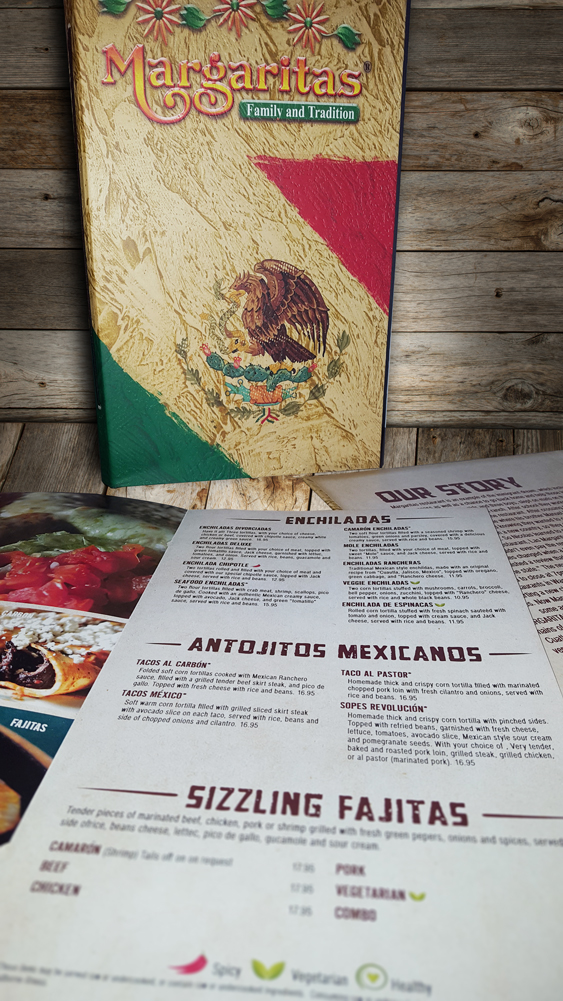 three margaritas menu