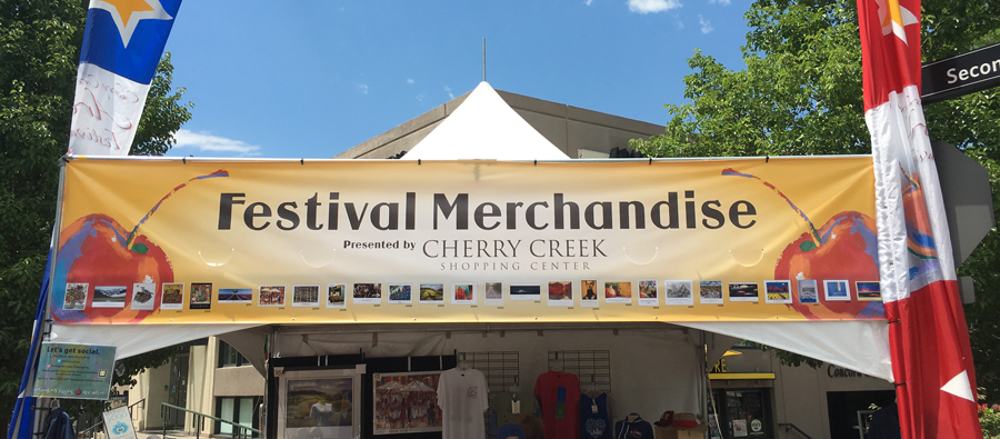 cherry creek arts festival merchandise banner