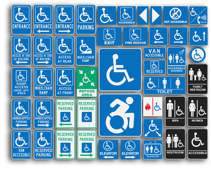 many types of ada signs