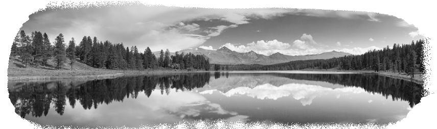 mountains in black & white
