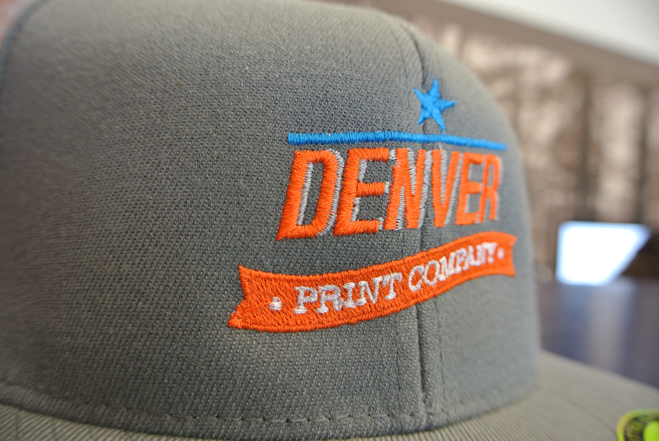 denver print company embroidered hat