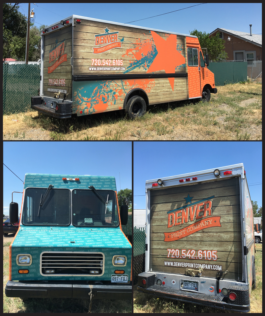 Denver Print company delivery truck wrap graphics