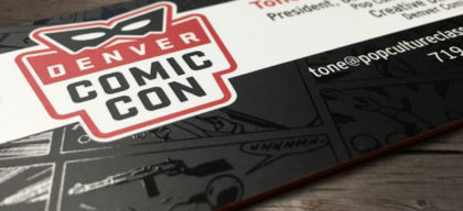 denver comic con business card
