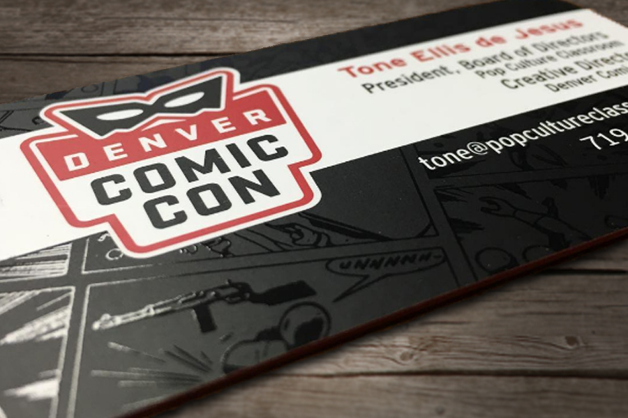Denver comic con business card denver printing company denver comic con business card colourmoves