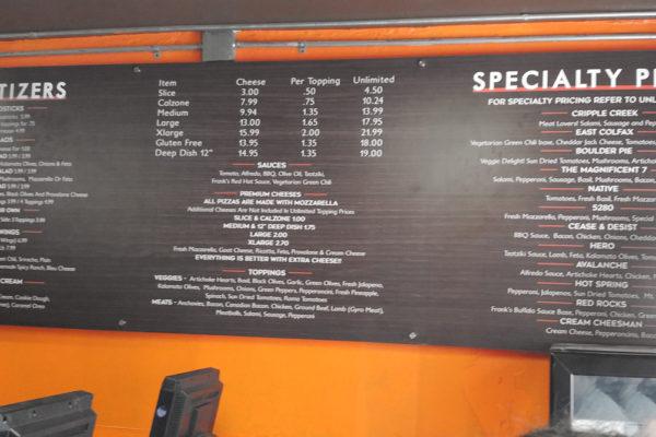 denver pizza company menu