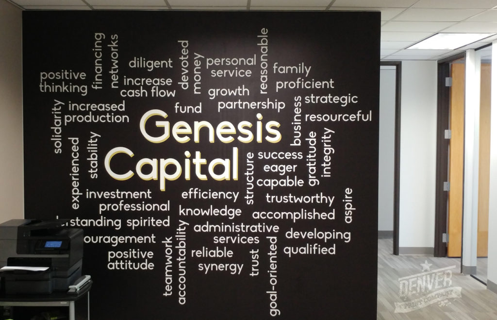 Genesis Capital Wall Graphic Denver Printing Company