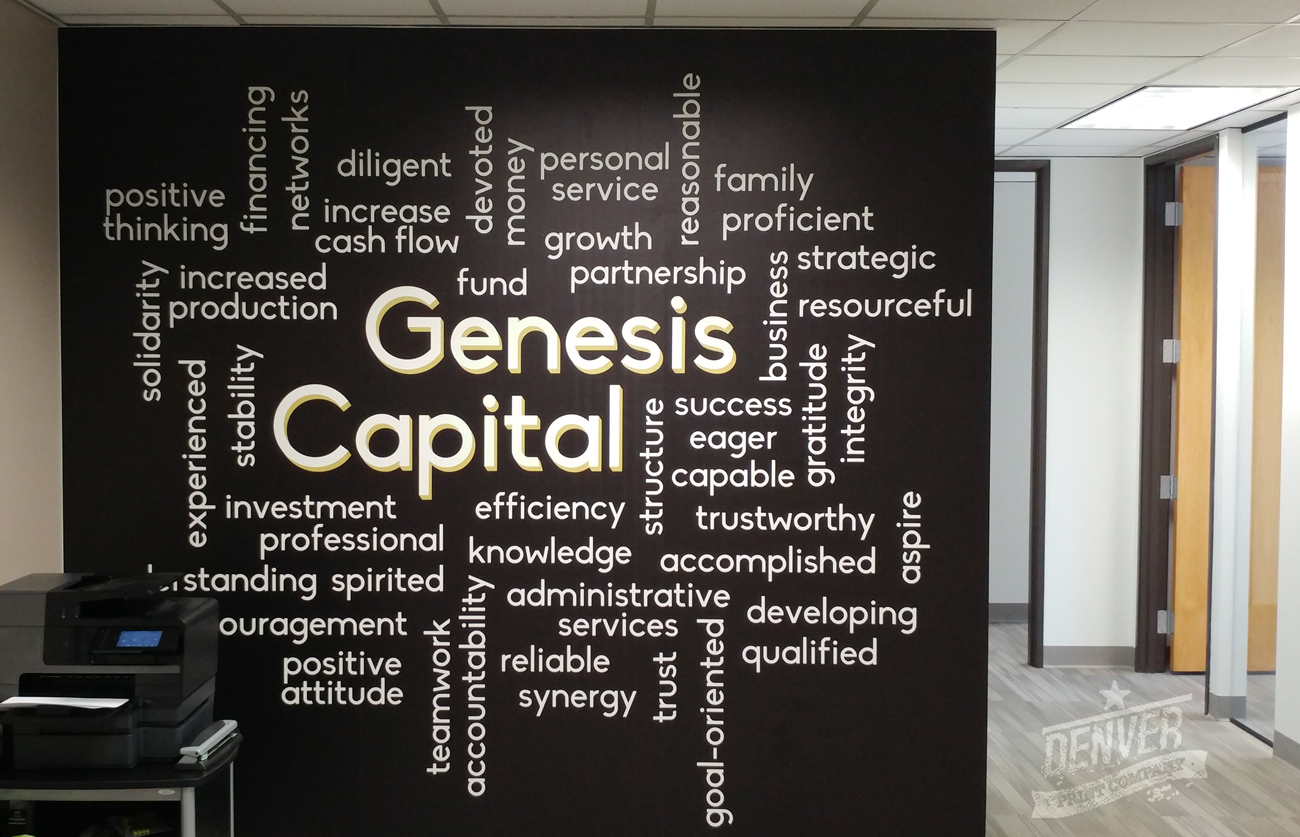genesis capital wall graphic