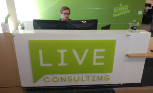 live consulting lobby sign