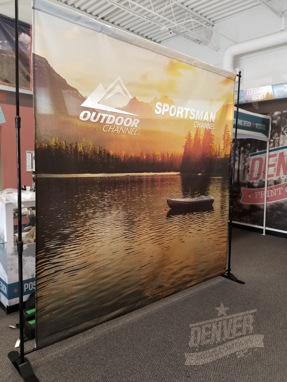 Outdoor Channel step & repeat banner