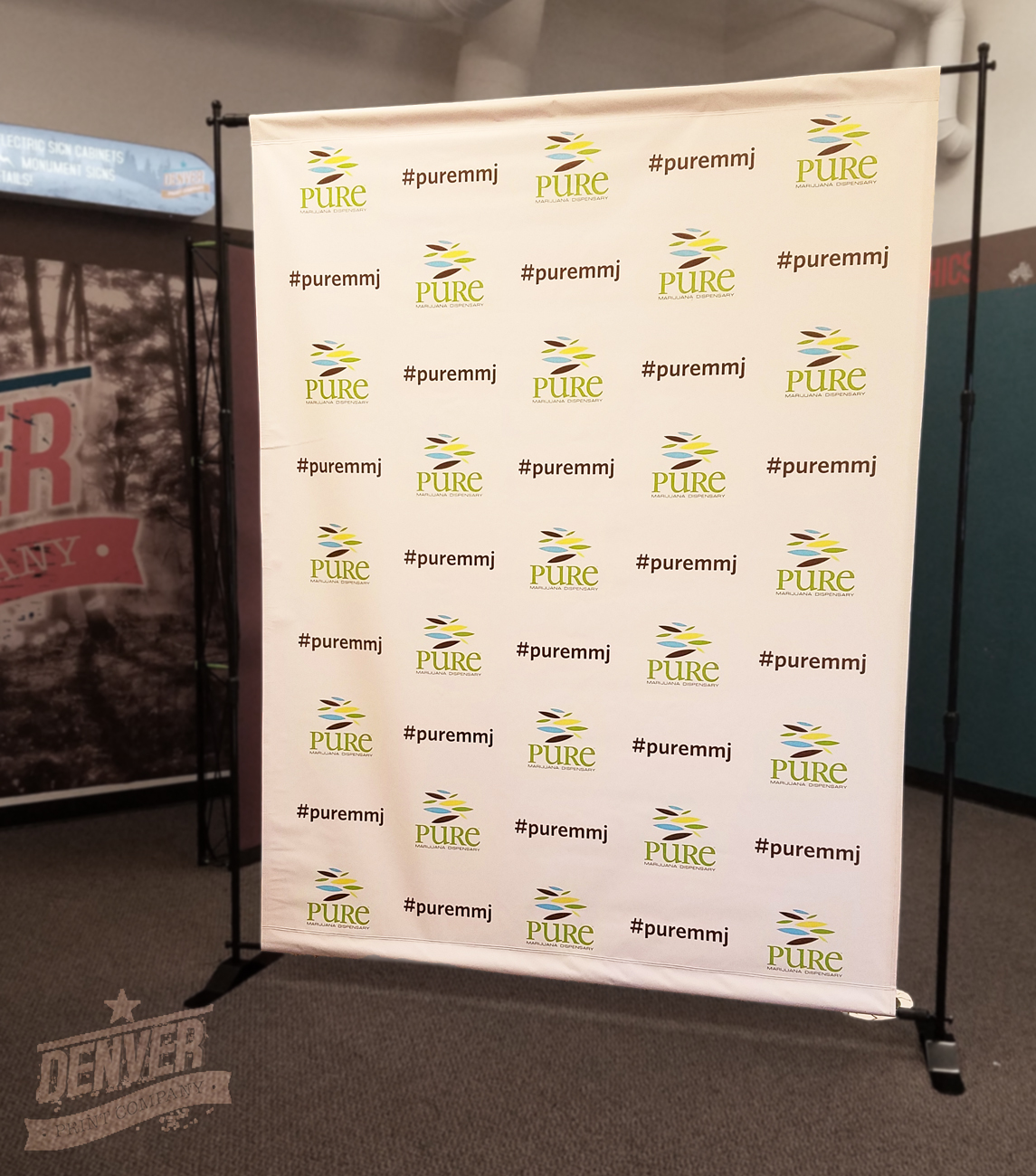 pure mmj step and repeat banner