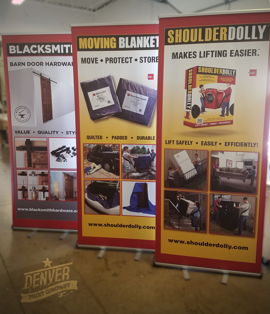 shoulder dolly pop-up banners